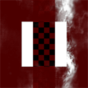 Roter Rhombus