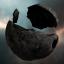 Broken Blue Crystal Asteroid