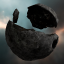 Broken Metallic Crystal Asteroid